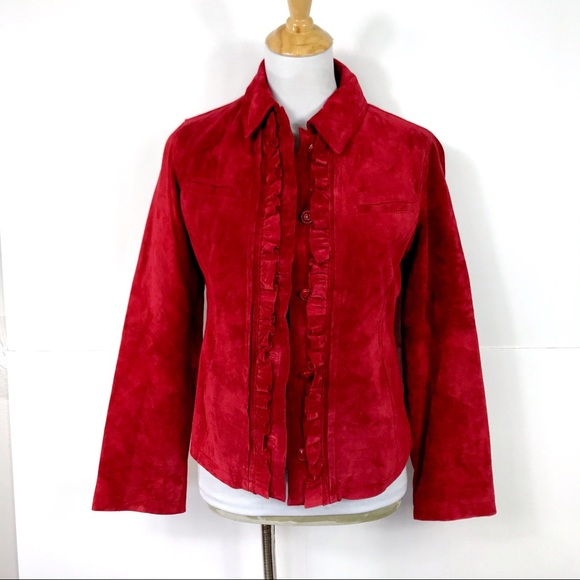 Chico's Jackets & Blazers - {NWT} Chico's Ruffled Suede Jacket